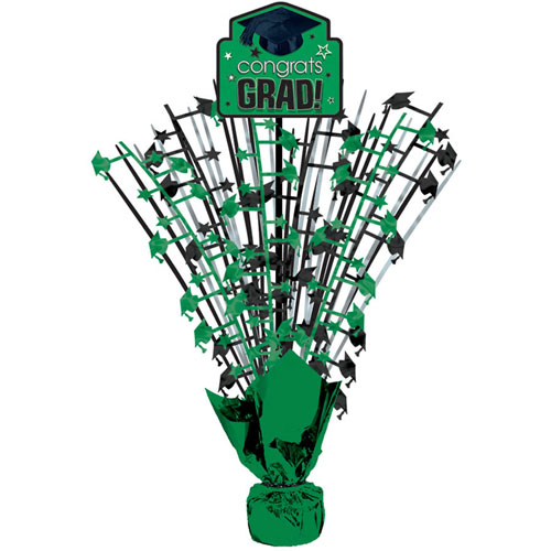 Green Congrats Grad Spray Centerpiece