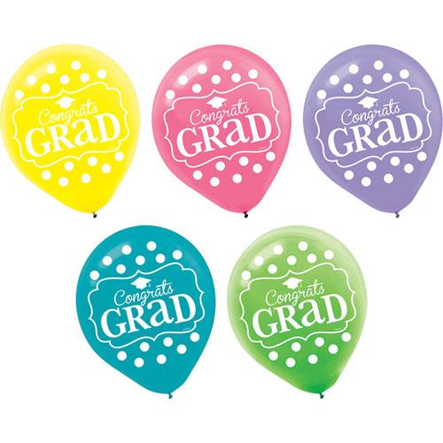 """Congrats Grad"""" Latex Balloons"""