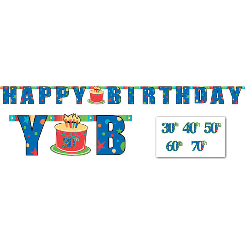 A Year To Celebrate - Happy Birthday Banner