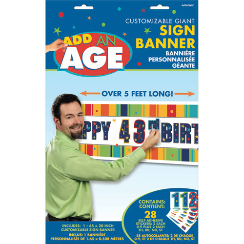 A Year To Celebrate - Happy Birthday Customizable Banners