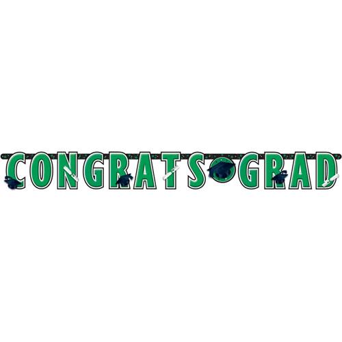 Congrats Grad Green Banner