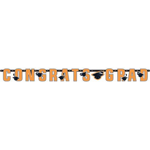 Congrats Grad Orange Banner