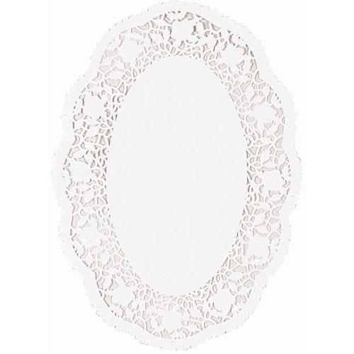 "Oval Doilie 7 1/2"" X 10 1/2""- White"