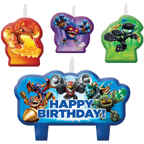 Skylanders Birthday Candle Set
