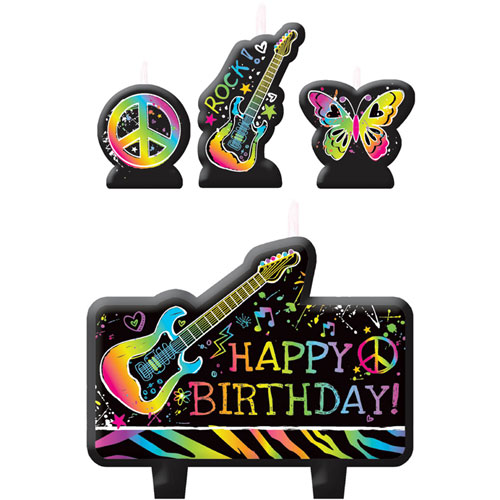 Neon Birthday Molded Candles