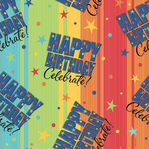 A Year To Celebrate - Happy Birthday Gift Wrap