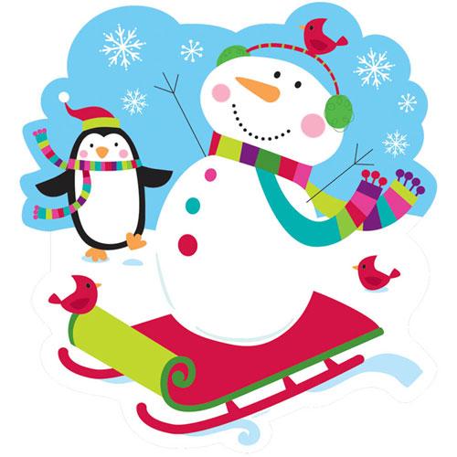 "8"" Joyful Snowman Cutout"