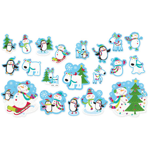 Joyful Snowman Glitter Cutout Value Pack