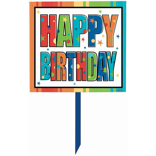 A Year To Celebrate - Happy Birthday Yard Sign