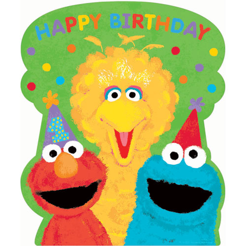 Sesame Street 1st Birthday Cutout