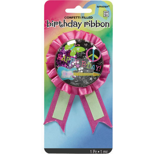 Neon Birthday Award Ribbon