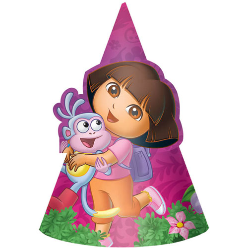 Dora's Flower Adventure Party Hats (8ct)