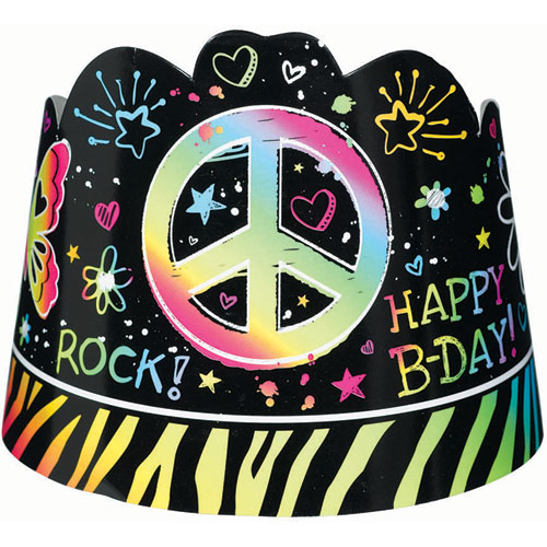 Neon Birthday Child Tiaras