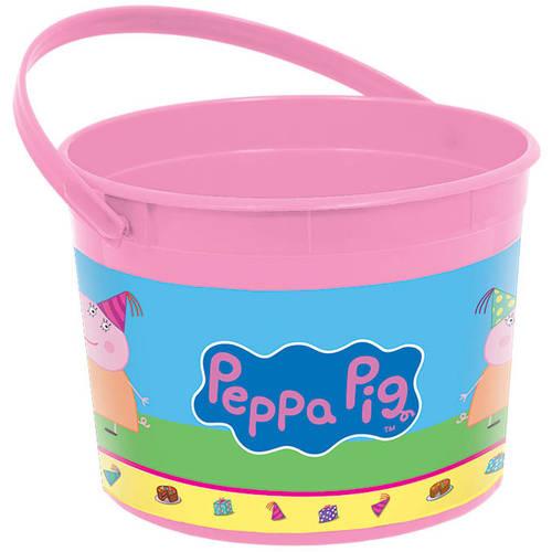 Peppa Pig Plastic Favor Bucket