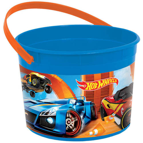 Hot Wheels Wild Racer Plastic Favor Bucket