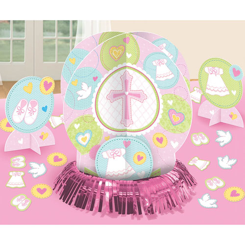 Sweet Christening Pink Table Decorating Kit