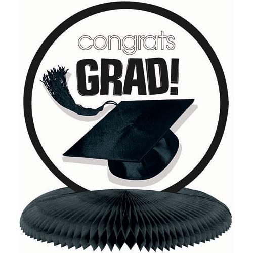 Congrats Grad White Honeycomb Centerpiece