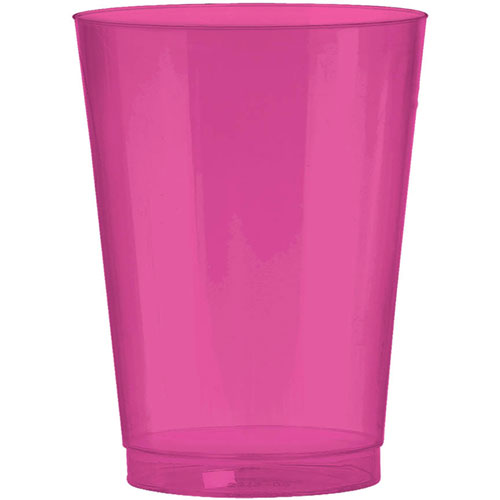 Bright Pink 10oz Plastic Cups