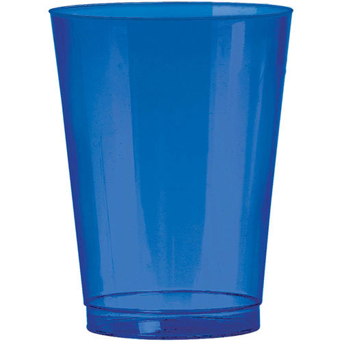 Bright Royal Blue 10oz Plastic Cups (72 ct)