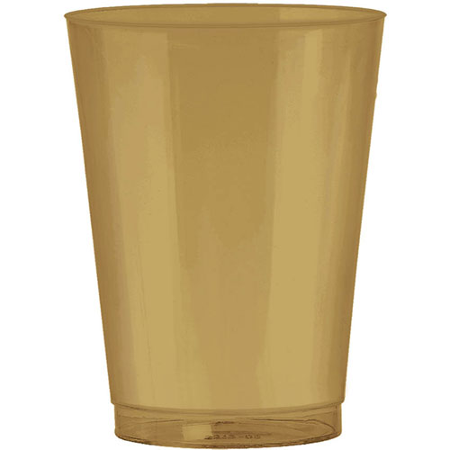 Gold 10oz Plastic Cups