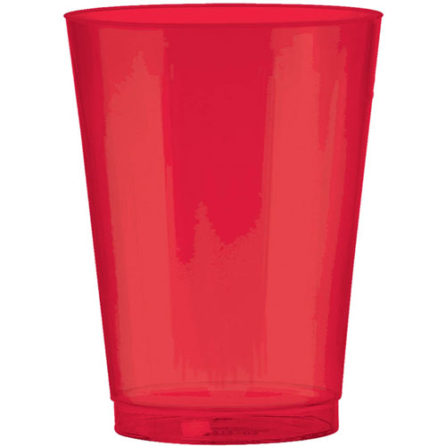Apple Red 10oz Plastic Cups