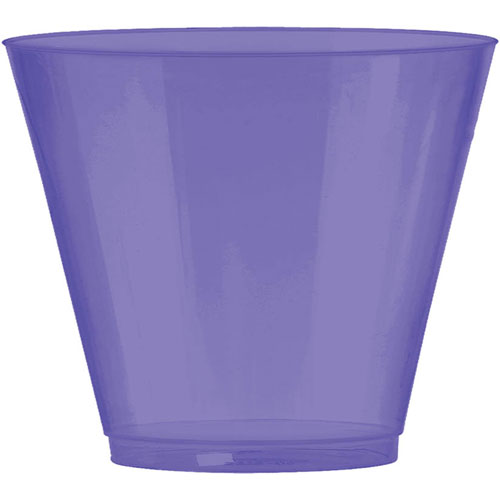 9 Oz. Plastic Tumbler - Purple