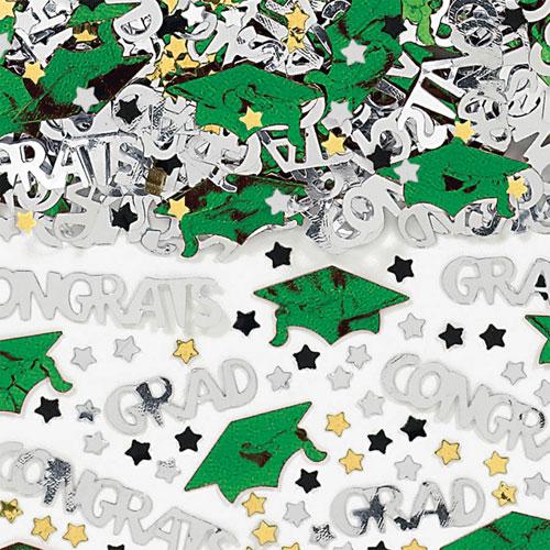 Green Congrats Grad Confetti