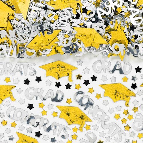 Yellow Congrats Grad Confetti