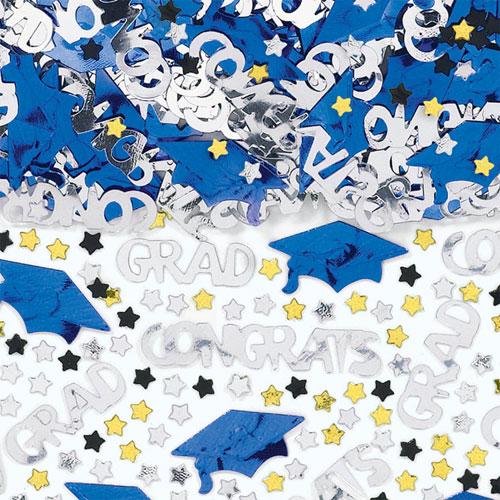 Blue Congrats Grad Confetti