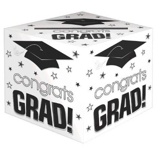 Congrats Grad White Card Box
