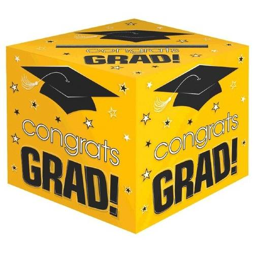 Congrats Grad Yellow Card Box
