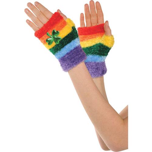 Rainbow St. Patrick's Day Glovelettes