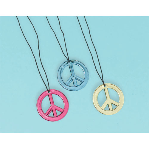 Neon Birthday Peace Necklaces