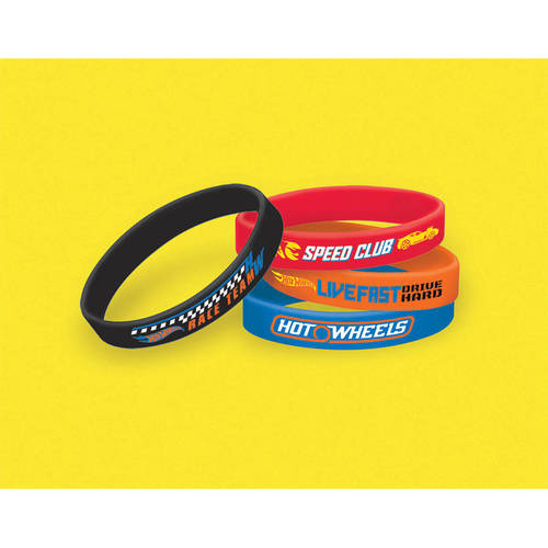 Hot Wheels Wild Racer Rubber Bracelets (4ct)