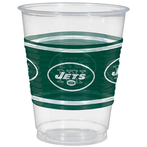 New York Jets 16oz Plastic Cups (25ct)