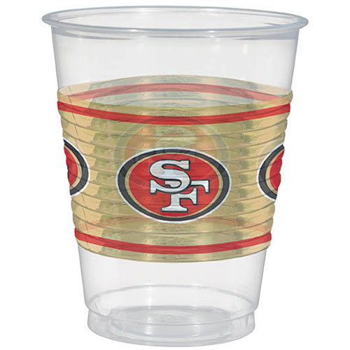 San Francisco 49ers 16oz Plastic Cups