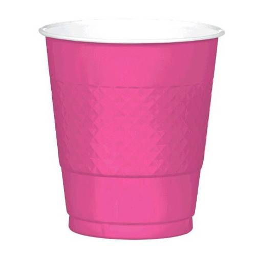 Bright Pink 12oz Plastic Cups (20ct)