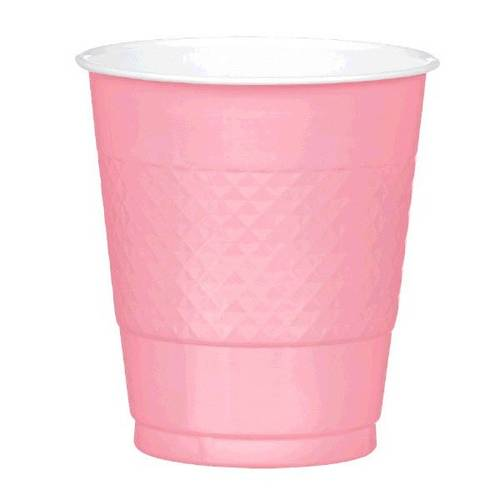 New Pink 12oz Plastic Cups (20ct)
