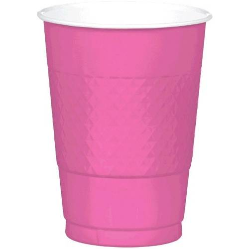 Bright Pink 16oz Plastic Cups (20ct)