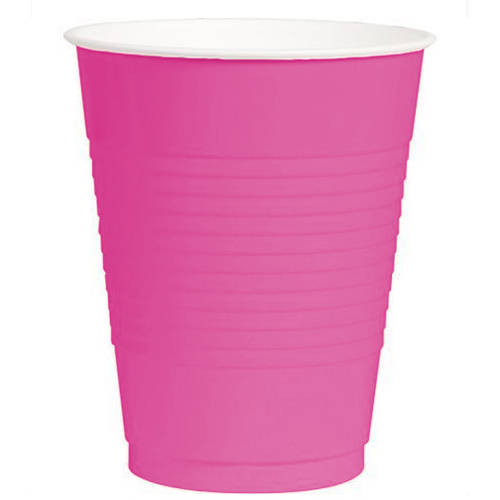 Bright Pink 12oz Plastic Cups (50ct)