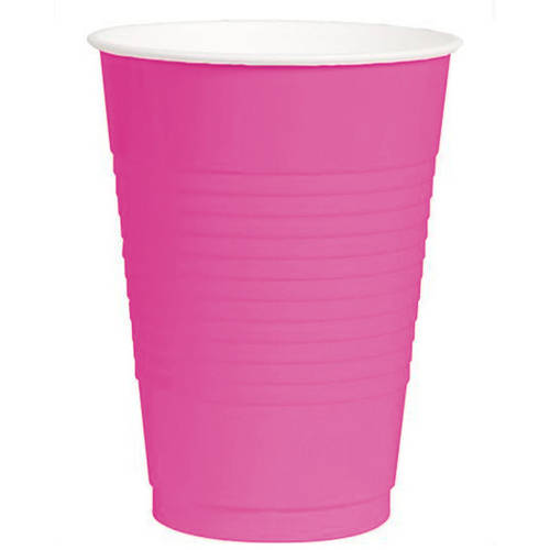 Bright Pink 16oz Plastic Cups (50ct)