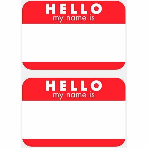 Hello My Name Is...Name Tag