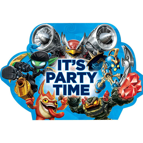 Skylanders Postcard Invitations
