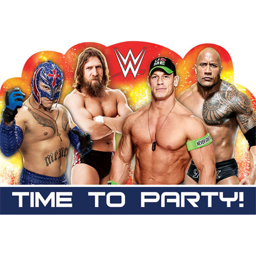 WWE Party Postcard Invitations
