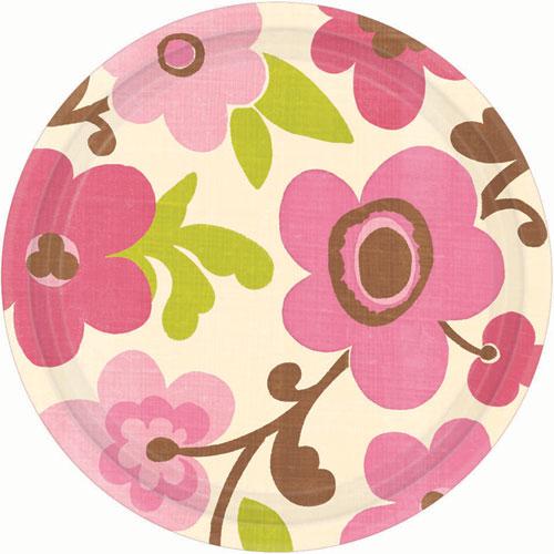 Linen Floral Eco Dessert Plates (8ct)