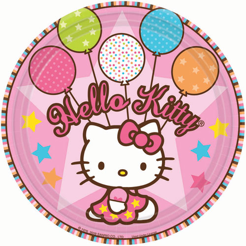 Hello Kitty Balloon Dreams Dessert Plates (8ct)