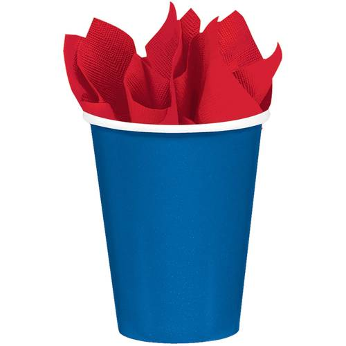 Bright Royal Blue 9oz Paper Cups (8ct)
