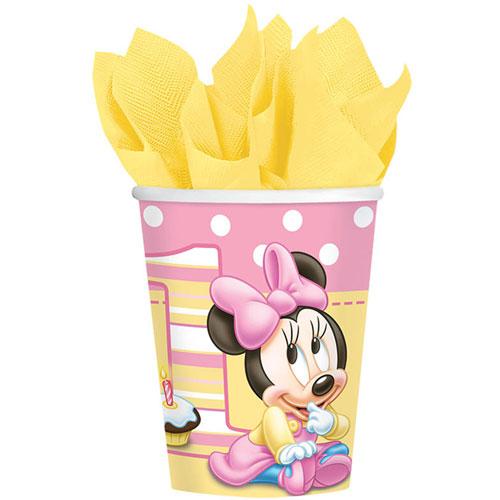 Minnie's 1st Birthday 9oz Paper Cups (8ct)
