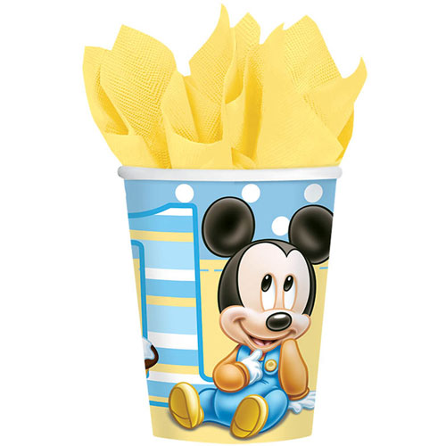 Mickey's 1st Birthday 9oz Paper Cups (8ct)