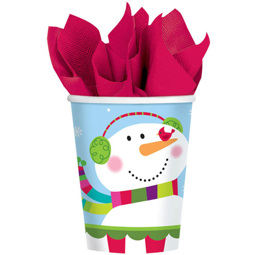 Joyful Snowman 9oz Paper Cups (8ct)